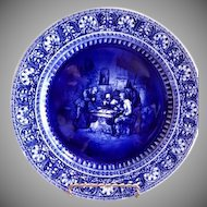 """Royal Doulton Historical Blue Cabinet Plate """"Sketches from Teniers"""" Series"""