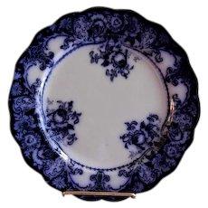 """J H Weatherby & Sons Flow Blue """"Belmont"""" Pattern Plate"""