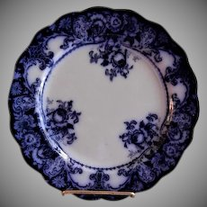 "J H Weatherby & Sons Flow Blue ""Belmont"" Pattern Plate"