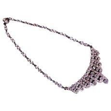 Edwardian Pot-Metal Diamond Rhinestone Necklace/Choker