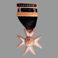 "Freeport, IL Fireman ""Maltese Cross"" Dress/Presentation/Retirement Uniform Ribbon"