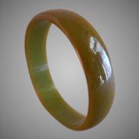 Vintage 1930-1940 Pea Soup Green Bakelite Bangle Bracelet