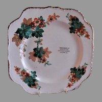 Porcelain Advertising/Promotional Floral Motif Plate - Fulton ILL