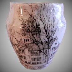 "Early 1900's Souvenir ""Court House, Iowa City, IA"" Toothpick Holder"