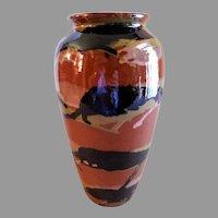 """Peters & Reed """"Marbleized"""" Pattern Vase"""