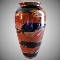 "Peters & Reed ""Marbleized"" Pattern Vase"