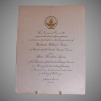 Inaugural Committee Invitation for President Nixon & Vice President Agnew - 1969