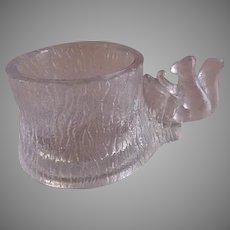 "EAPG -  ""Squirrel on Stump"" Individual Salt Dish - Portland Glass Company"