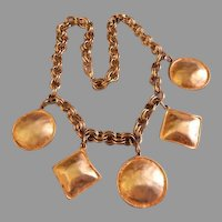 """Ginnie Johansen Designs"" Gold-Tone Five Medallion Necklace"