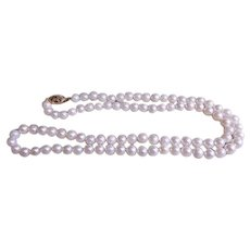 """""""Honora"""" Cultured Pearl Necklace - 5-5 1/2mm - 20"""" Length - 14K Clasp"""