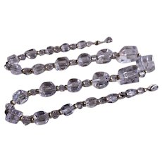 Vintage Faceted Cube Cut Crystal Beads Wedding Necklace