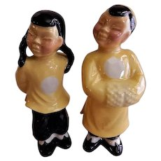"Ceramic Arts Studio, Madison, WI ""Chinese Boy & Girl"" Figurines - Pair"