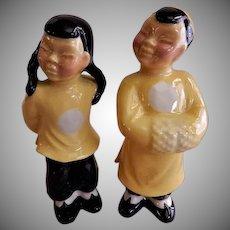 "Ceramic Arts Studio, Madison, WI ""Chinese Boy & Girl"" Figurines - Pair"