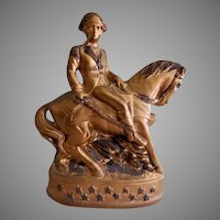 Vintage Chalk/Plaster Circus/Carnival Prize - George Washington on Horseback