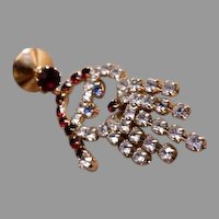 "Juliana (DeLizza & Elster) Gold-Tone & Colored Rhinestone ""Santa Claus"" Lapel/Scarf Pin"