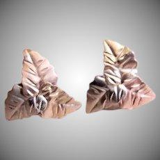 "Black Hills Gold ""Three Leaf Cluster"" Design Post Earrings"
