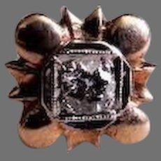 10K White & Yellow Gold and Diamond Lapel Pin