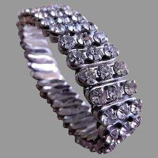 Vintage Diamond Rhinestone Expandable Bracelet