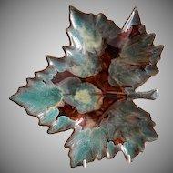 "Van Briggle ""Maple Leaf"" Plate/Plaque"
