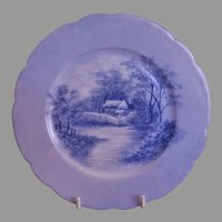 CFH/GDM Limoges H.P. Cabinet Plate w/Scenic Motif - 4 of 4 Plates
