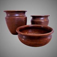Arts & Crafts Hand Hammered Copper Vessels - Set of 3