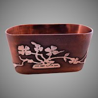 Arts & Crafts Bronze & Sterling Silver Napkin Ring