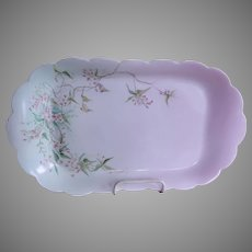 Charles Haviland & Co. Hand Painted Floral Motif Ice Cream/Serving Platter, Circa 1880's