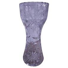 Etched & Cut Crystal Floral Motif Vase