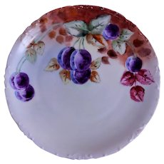 Rosenthal Porcelain Hand Painted Cabinet Plate w/Lush Plums Motif