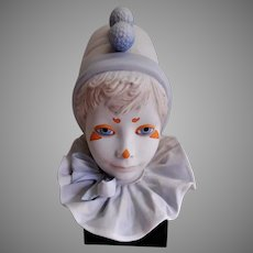 "Cybis Porcelain ""Funny Face"" Child Clown Face Sculpture"