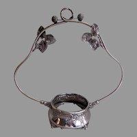 Derby Silver-Plate Blackberry Motif Bride's Basket Holder/Frame