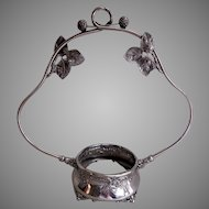 Derby Silver-Plate Blackberry Motif Bride's Basket Holder/Frame