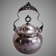 Rockford Silver Plate Company Cracker/Biscuit Jar
