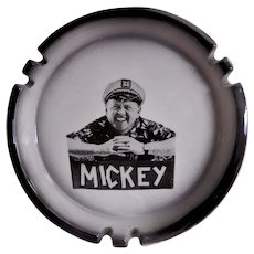 Sascha Brastoff Pottery Ashtray w/Press Photo Imprint of Mickey Rooney