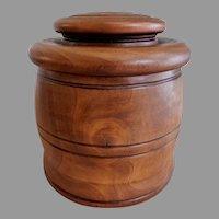Vintage Treenware Covered Jar for Spices, Sugar, Etc.