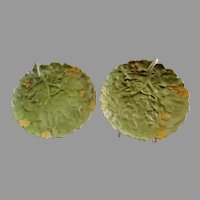 Royal Bayreuth Nappie/Underplate w/Lettuce Leaf Pattern - Pair