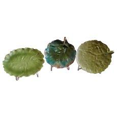 Royal Bayreuth Nappie/Underplate w/Leaf Pattern - Three