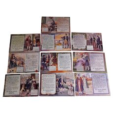 Set of 10 Advertising Calendar 1911 Postcards, Freeport, Illinois