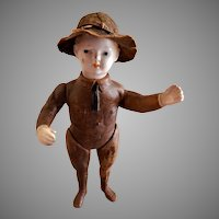 """World War I """"Doughboy"""" Soldier Doll w/Hat by Ideal Novelty & Toy Company"""