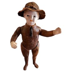"World War I ""Doughboy"" Soldier Doll w/Hat by Ideal Novelty & Toy Company"