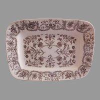 "T & R Boote Ironstone Brown Transferware Medium Size Platter ""Lahore"" Pattern"