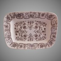 "T & R Boote Ironstone Brown Transferware Medium Size Platter ""Lahore"" Pattern"