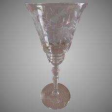 "Libby/Rock Sharpe ""Fuchsia"" Pattern, Stem #2080, Water Goblets - Set of 6"