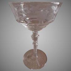 "Libbey/Rock Sharpe ""Fuchsia"" Pattern, Stem #2080, Sherbet/Champagnes - Set of 6"