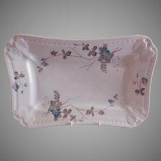 PH Leonard, Vienna, Austria, Porcelain Platter w/Teal Floral Motif