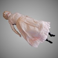"""Hertwig & Company Lowbrow Blonde China Head Doll - Pet Name """"Dorothy"""""""
