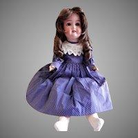 Schoenau & Hoffmeister #1909 Doll - Bisque Head, Wig, Composition Body & Sleep Eyes
