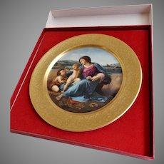 "Pickard 1976 Christmas Plate ""Alba Maddona"" by Sanzo Raphael"