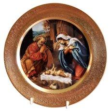 "Pickard 1977 Christmas Plate ""The Nativity"" by Lorenzo Lotto"