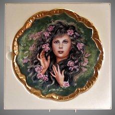 "Pickard 1982 Symphony of Roses Plate ""Wild Irish Rose"" by Irene Spencer"